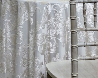 Victorian Jacquard Sheer In Ivory   Ideal For Events, Parties U0026 Home Decor