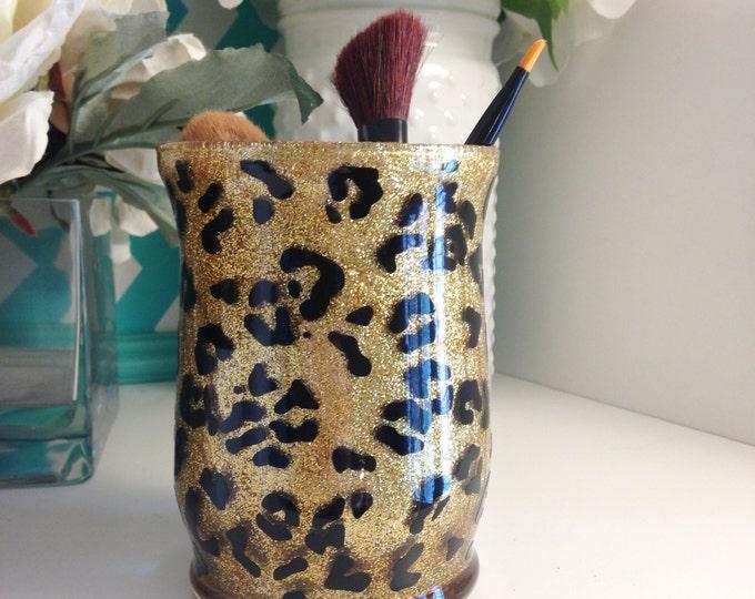 Featured listing image: Leopard Makeup Brush Holder - SALE
