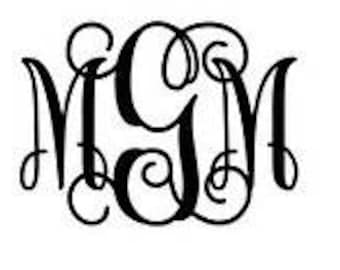 Monogram Decal Sticker, Many sizes, colors, and styles!
