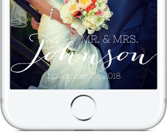 Mr. and Mrs. Snapchat GeoFilter