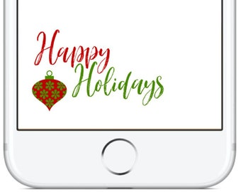 Happy Holidays Snapchat GeoFilter