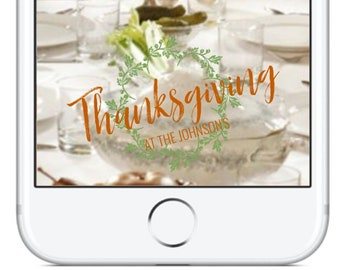 Thanksgiving Snapchat GeoFilter