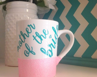 Mother Of The Bride Glitter Dipped Mug