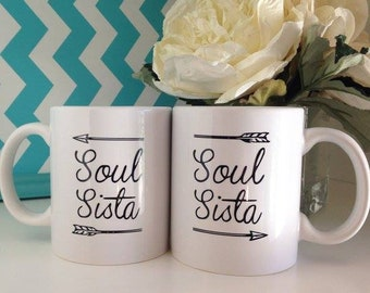 Soul Sista duo mugs, Soul Sister set