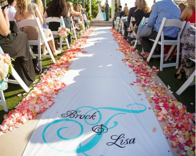 Featured listing image: Wedding Aisle Runner Design 36 x 100 FEET, custom listing