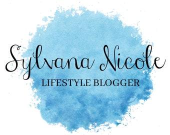Conception de Logo de mode de vie, Logo du Blog, Blog en-tête, Logo entreprise, Logo noir et blanc, Logo Premade, aquarelle