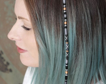 PREMIUM LilacWhite Hair Jewellery clip in feather extension
