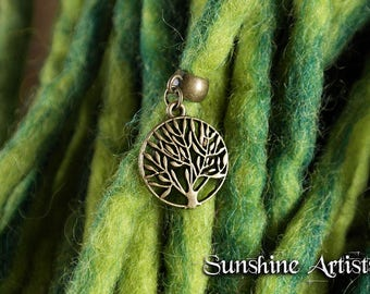 Tree of Life charm, Antique bronze, Tree of Life pendant, Dread charm, Dreadlock bead, Boho jewellery, Hippy accessories, Festival charm