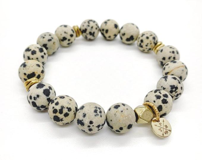 Dalmatian Jasper Natural Stone Bracelet