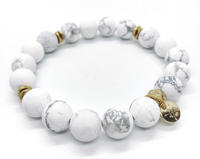 Howlite Natural Stone Bracelet