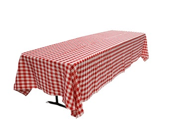 Red White Tablecloth Etsy