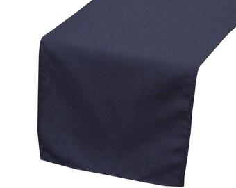 Attirant YCC Linen   Navy Blue Polyester Table Runner | Wedding Table Runner