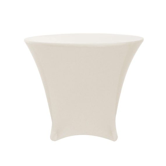 Ivory 36 X 30 Inch Lowboy Cocktail Round Stretch Spandex Table Etsy