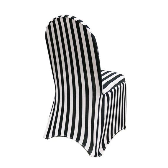 Sensational Black And White Striped Spandex Chair Cover Stretch Chair Covers Wedding Chair Covers Unemploymentrelief Wooden Chair Designs For Living Room Unemploymentrelieforg