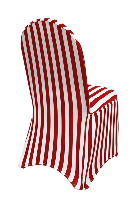 Prime White And Red Striped Spandex Chair Covers Stretch Chair Covers Wedding Chair Covers Gmtry Best Dining Table And Chair Ideas Images Gmtryco