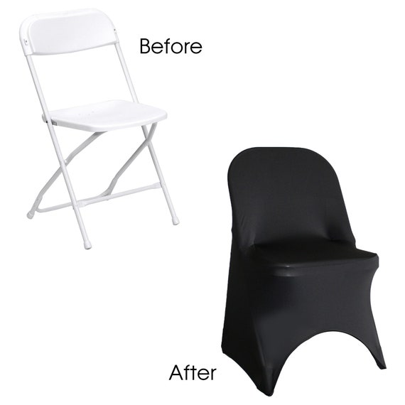 Magnificent Black Spandex Folding Chair Cover Stretch Chair Covers Wedding Chair Covers Pabps2019 Chair Design Images Pabps2019Com