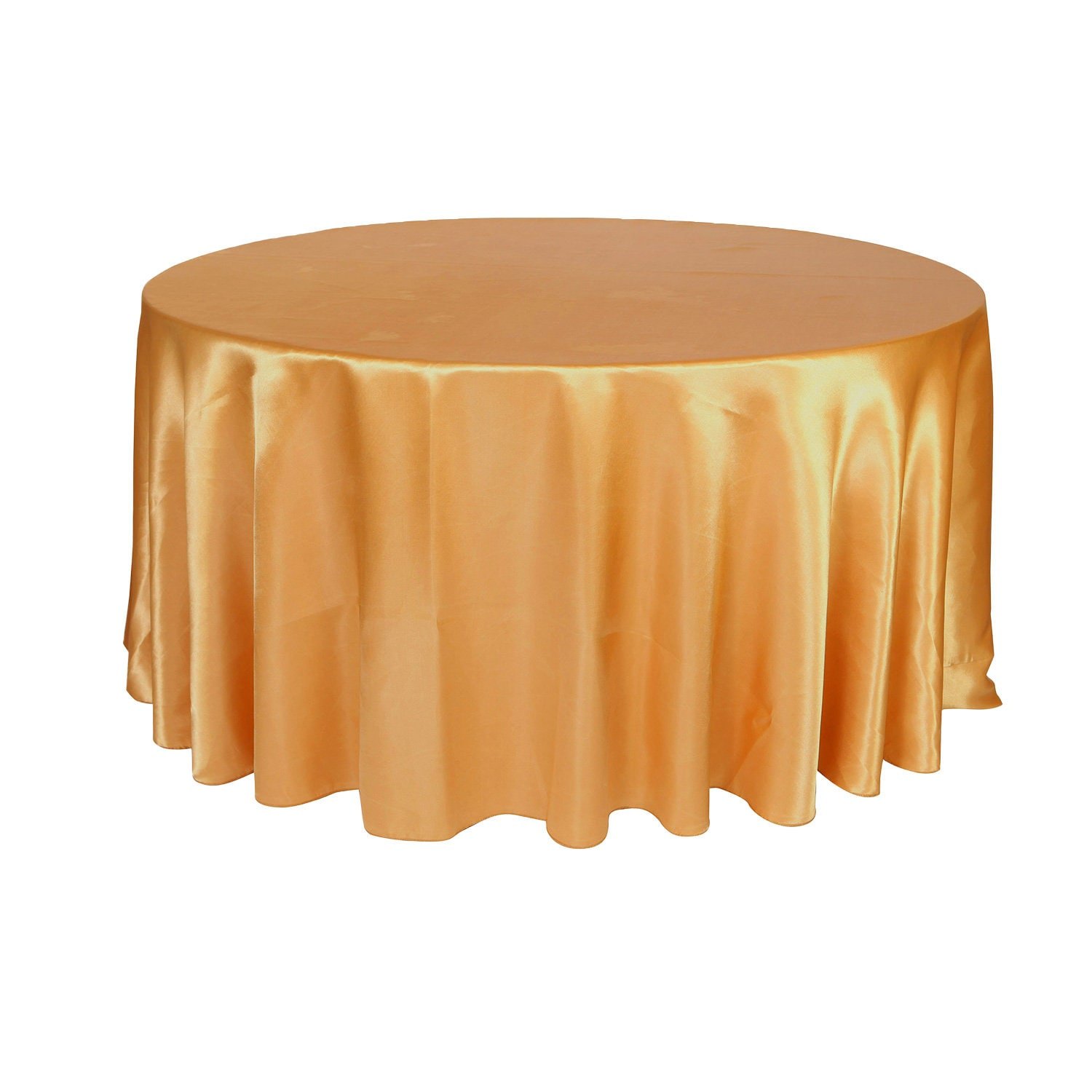 Beau Gold 120 Inch Round Satin Tablecloth | Wholesale Wedding Tablecloth, Round  Table Linens