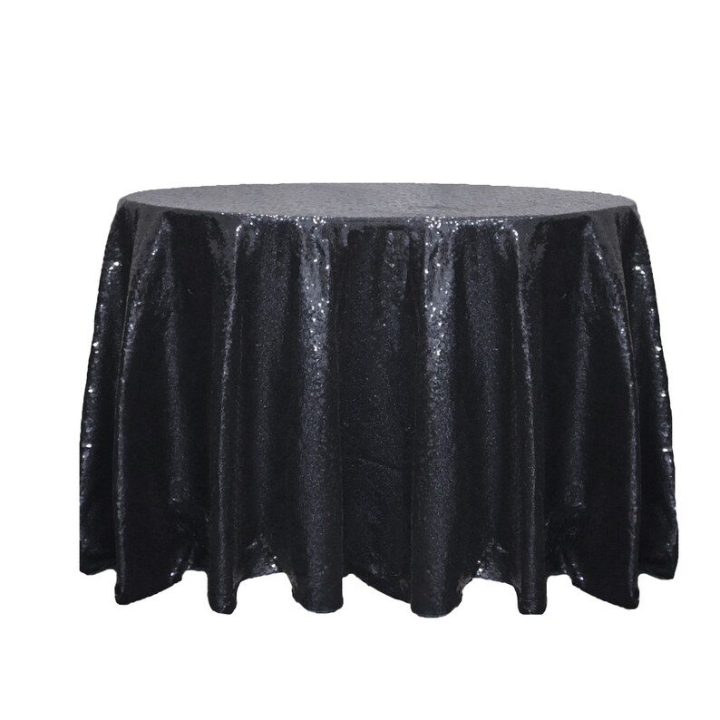 f4c8bbb1a78b Black 120 Inch Round Glitz Sequin Tablecloth Wholesale