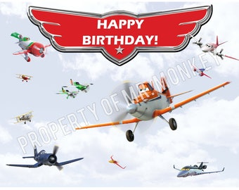 Disney Planes Birthday Backdrop/Poster