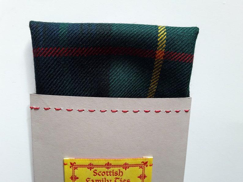 Stewart Hunting Scottish Tartan Plaid Pocket Square Card Design Modern.Dated 1819 ITI No 6327