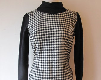 1960s Houndstooth Dress