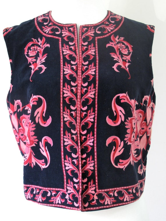 60s Velvet Printed Vest