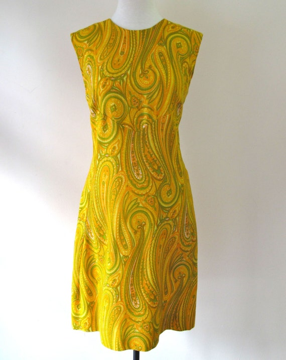 1960s Paisley Dress