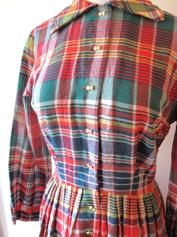 1940s Plaid Dress - image 2