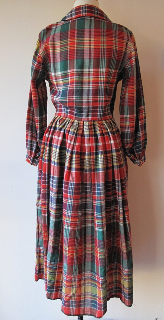 1940s Plaid Dress - image 4