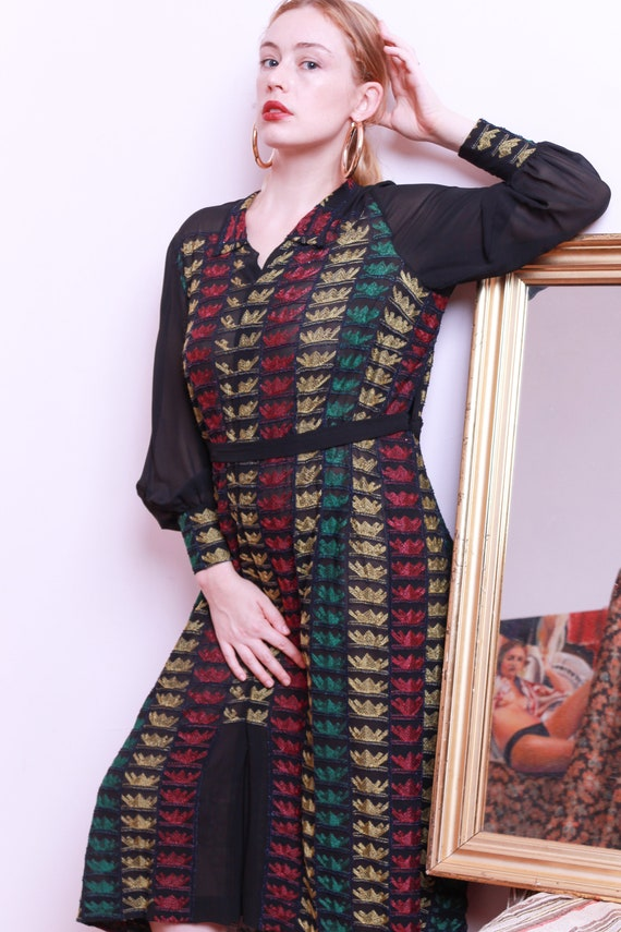 1920s Hand Embroidered Dress