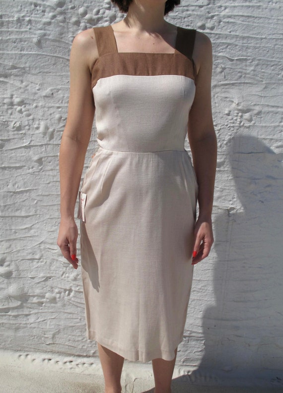 1960s Two Tone Dress - image 2
