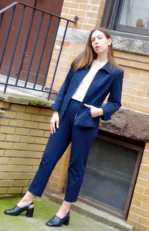 1990s Nylon Pant Suit