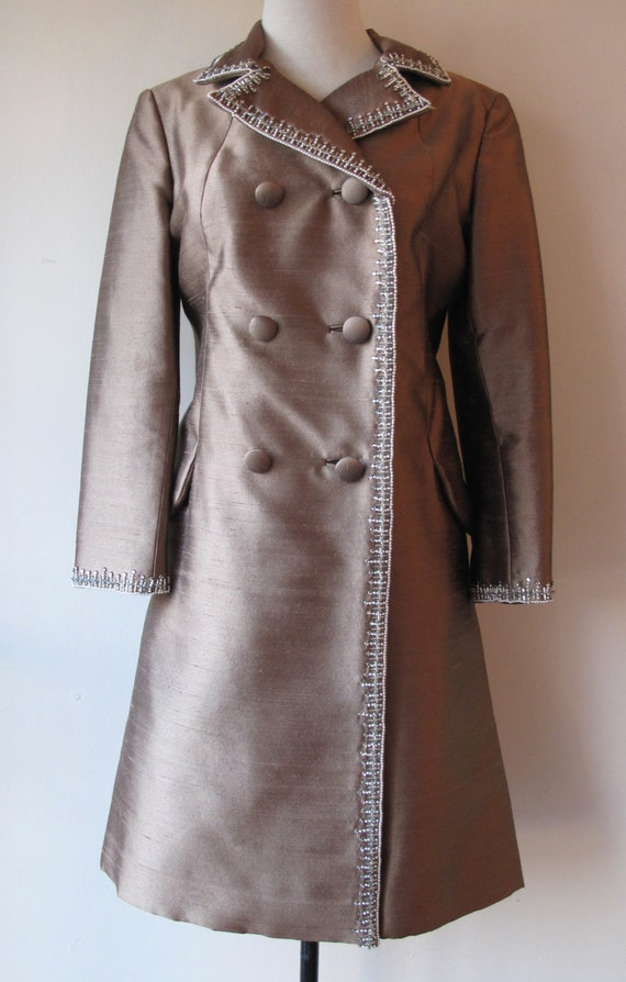 1960s Raw Silk Coat