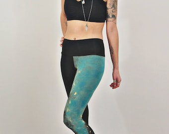 6ab7dbe82e3d4 Galaxy Leggings, Black Leggings, Hand Painted, Bamboo Leggings, Soft Jersey  Leggings, Printed Tights, High Waisted, Bamboo Jersey