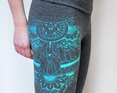 LAST CHANCE to order this design // Henna Wing Print High Waisted Leggings // Discontinued Design