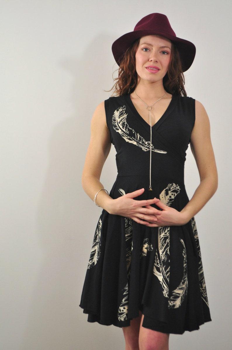 7617576cf7 Wrap Dress Wrap top Boho Dress Short Dress Little Black