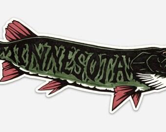 MN Muskie sticker