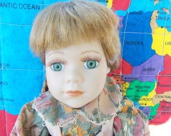 Porcelain doll for adoption - Gretchen