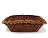 10x14 Wicker Basket, French Gathering Dry Goods, Rattan Woven, Organization Storage Pantry