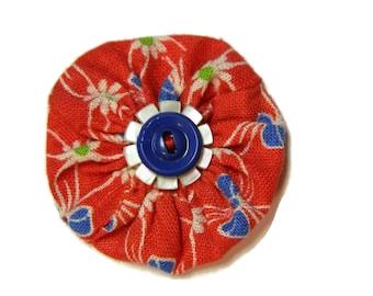 SALE Kindergarten Dress Vintage Yo Yo Hairbow / Brooch Pin
