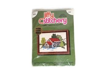 5 x 7 Crewel Kit, Mabry Mill, VA Jiffy Stitchery