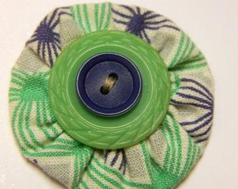 SALE Spring Dress Vintage Yo Yo Hair Clip
