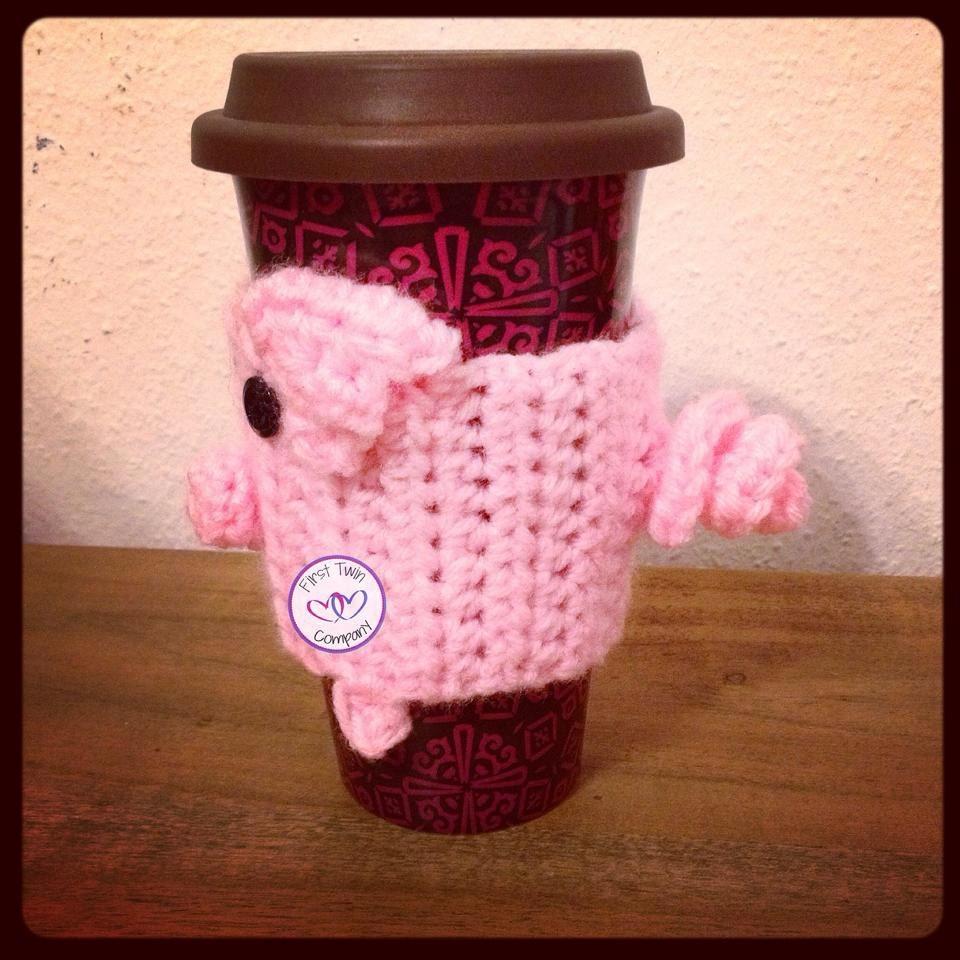 Piggy Coffee Collarcozy Crochet Pattern Pig Collar Pig Etsy