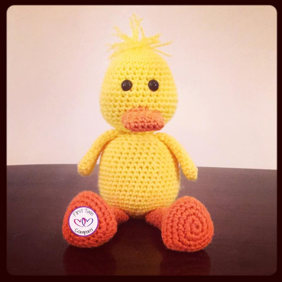 Quackers The Duck Amigurumi Stuffie Toy Crochet Pattern Duck Etsy