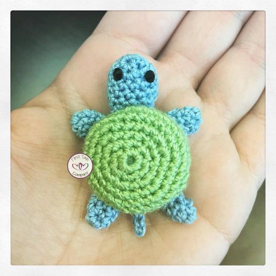 Green the Turtle amigurumi stuffie toy crochet pattern, mini crochet ...