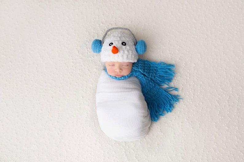 c27c379579b6 Snowman Newborn Set Photo Prop Crochet Pattern snowman