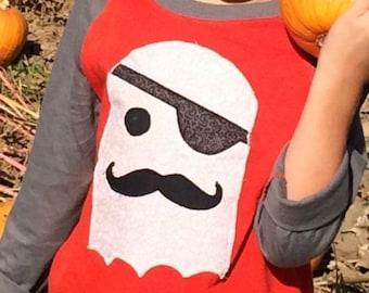 Boys ghost halloween shirt