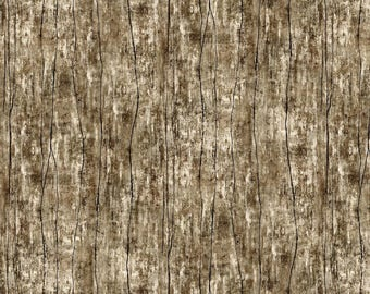 Greener Pastures Brown Wood Texture Wilmington Prints Fabric #6876 By the Yard