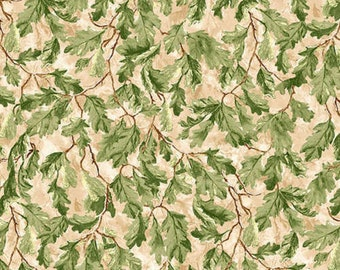 Before the Frost Autumn Foliage Leaves Tan Wilmington Prints #2623 By the Yard