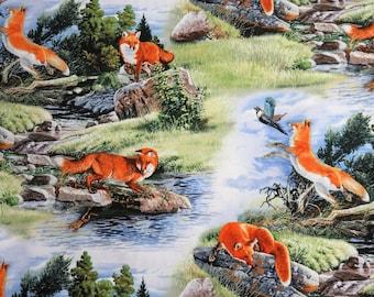 Red Fox North American Wildlife Animals Elizabeth's Studio #3141 By the Yard